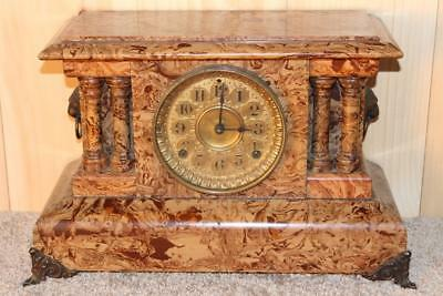 Amazing Antique Seth Thomas Butternut Adamantine Clock ~ 1895 ~