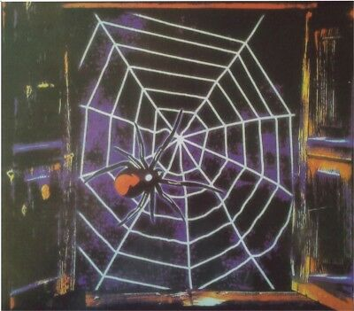 Halloween Black Window Spider Web (5ft) Home Party Hanging Decoration Accessory