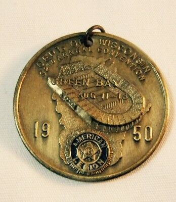 Green Bay Packers 1950 American Legion Convention Medal Old City Stadium Pre 60s