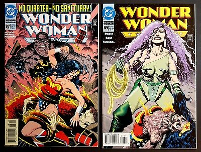 WONDER WOMAN LOT NM #87, 89 Brian Bolland Covers Vs. Circe 1994