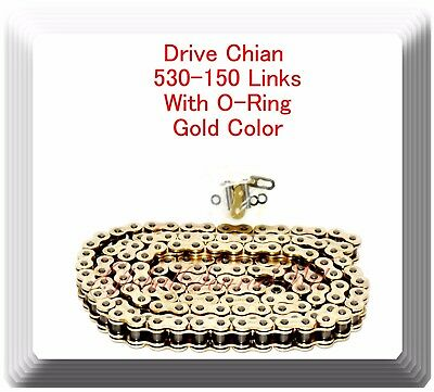 W/O-Ring Drive Chain Gold Color Pitch 530x150 Links Fits: Ninja ZX11 ZX1100D