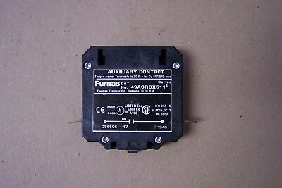 Furnas 49ACR0X511 Auxiliary Contact, Series E, New