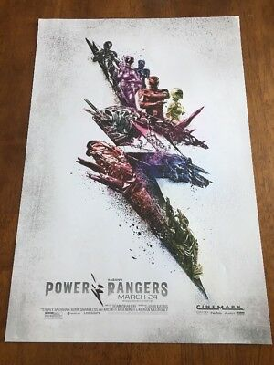 "Power Rangers original promo movie poster 13""x19.5"" excellent condition 2017"