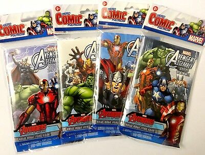 Marvel Avengers Assemble Micro Comic Fun Packs Poster Sticker Pop Out Standee