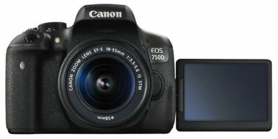 Canon EOS 750D / T6i 24.2MP Digital SLR Camera with EF-S 18-55mm IS STM Lens