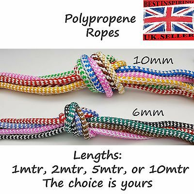 6mm 10mm Boat Polypropylene Marine Rope braided color twisted  Mooring Line
