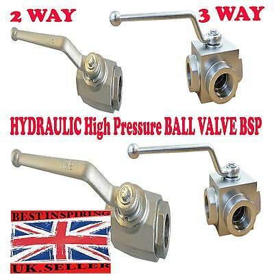 2 WAY,3WAY Hydraulic High Pressure Ball Valve shut off lever  valve VARIOUS SIZE