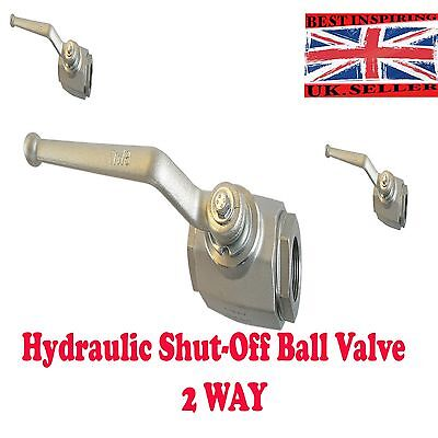 2 WAY Hydraulic High Pressure Ball Valve shut off lever valve crankeVARIOUS SIZE