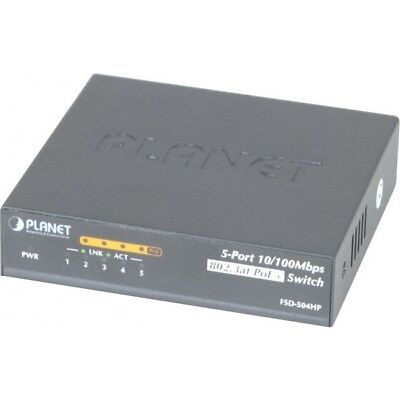 Planet FSD-504HP switch 5P 10/100 dont 4 PoE+ 802.3at 60W
