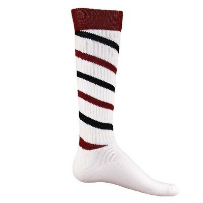 (Small, White/Cardinal/Black) - Red Lion Cyclone Athletic Socks. Red Lion Socks