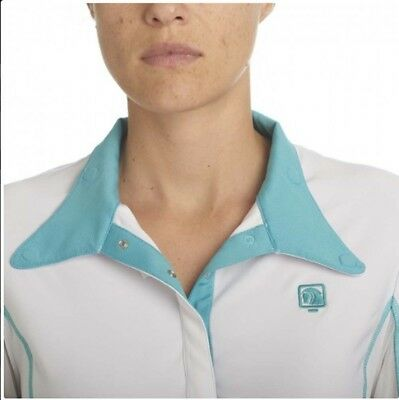 (Medium, Teal) - Romfh Ladies Competitor LS Show Shirt. Free Delivery