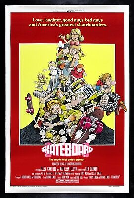 SKATEBOARD ✯ CineMasterpieces SKATEBOARDING MOVIE POSTER SKATER SKATE DUDE 1977