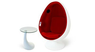 Modern Red And White Egg Chair With Speakers