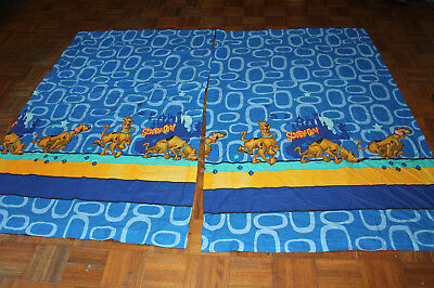 "Hanna Barbera Scooby Doo Curtain Set Drapes Panels 63 1/2"" X 40"" Each Panel"