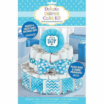 It's a Boy Diaper Cake Kit  for Baby Shower Centerpiece