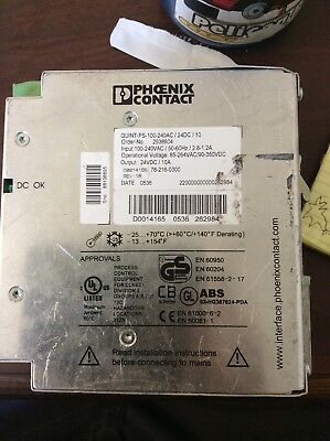 Phoenix Contact 2938604 Power Supply 24VDC QUINT-PS-100-240AC/24DC/10 used