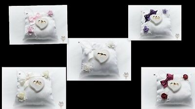 personalised wedding ring cushion pillow perna de inel de nunta 3B-K