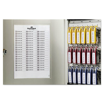 Durable Locking Key Cabinet 54-Key Brushed Aluminum Silver 11 3/4 x 4 5/8 x 11