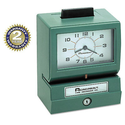 Acroprint Model 125 Analog Manual Print Time Clock with Month/Date/0-12 Hours