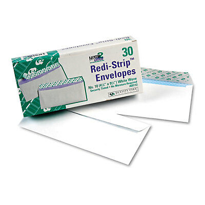 Quality Park Redi Strip Security Tinted Envelope #10 4 1/8 x 9 1/2 White 30/Box