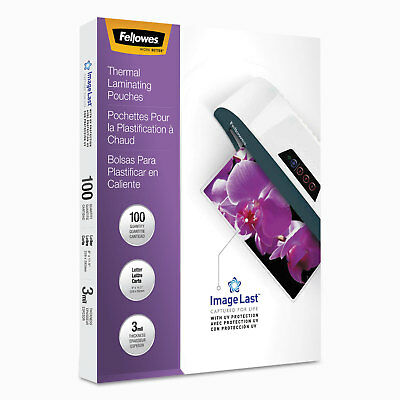 Fellowes ImageLast Laminating Pouches with UV Protection 3mil 11 1/2 x 9 100