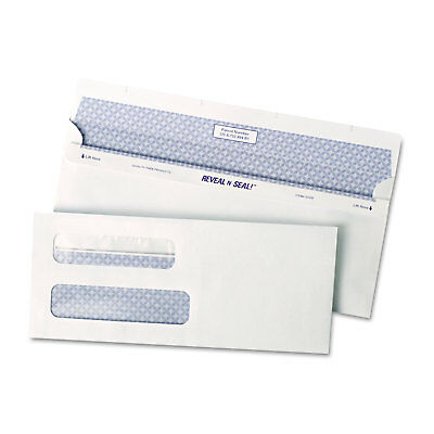 Quality Park Reveal N Seal 2-Window Check Envelope #8 5/8 3 5/8 x 8 5/8 White