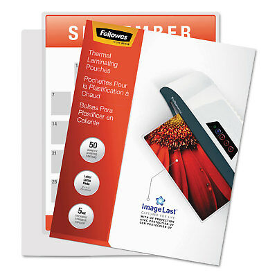Fellowes ImageLast Laminating Pouches with UV Protection 5mil 11 1/2 x 9 100