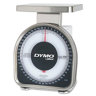 DYMO Heavy-Duty Mechanical Package Scale 50lb Capacity 6 x 4-3/4 Platform Y50
