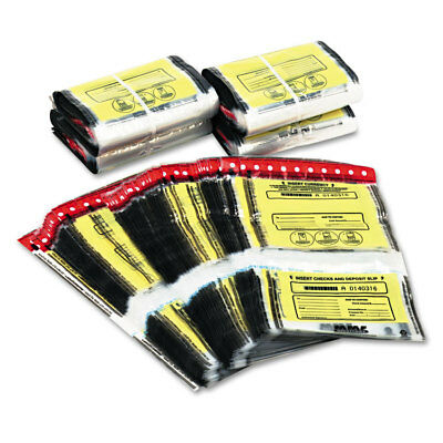 MMF Industries Tamper-Evident Twin Deposit Bags 9 1/2 x 17 1/2 100/Box Clear