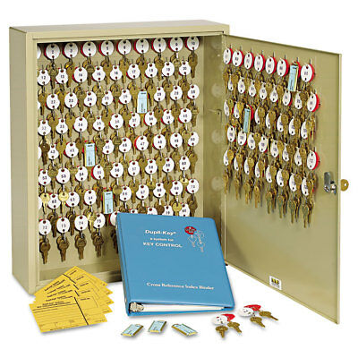 SteelMaster Locking Two-Tag Cabinet 120-Key Welded Steel Sand 16 1/2 x 4 7/8 x