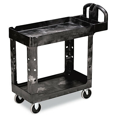 Rubbermaid Commercial Heavy-Duty Utility Cart Two-Shelf 17-1/8w x 38-1/2d x 38-7