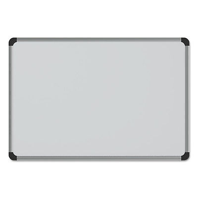 UNIVERSAL Cork Board with Aluminum Frame 36 x 24 Natural Silver Frame 43713