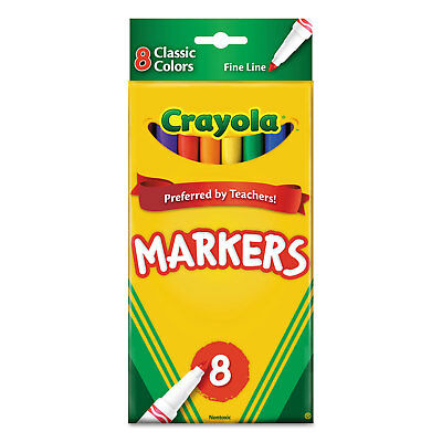 Crayola Non-Washable Markers Fine Point Classic Colors 8/Set 587709