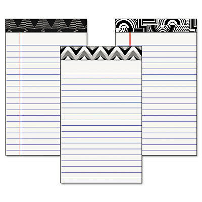 Tops Fashion Legal Pads with Assorted Headtapes 5 x 8 50 Sheets 6 Pads/Pack