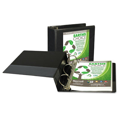 "Samsill Earth's Choice Biobased D-Ring View Binder 5"" Cap Black 16900"