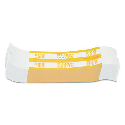 Coin-Tainer Currency Straps Yellow $1 000 in $10 Bills 1000 Bands/Pack 401000