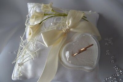 personalised wedding ring cushions, wedding ring pillow, p22 ivory