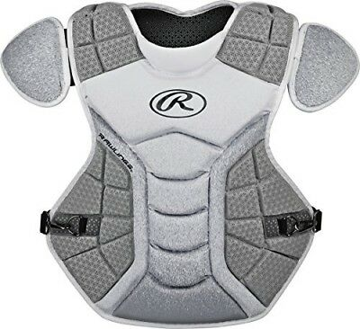 (White/Silver) - Rawlings Sporting Goods Catchers Chest Protector Velo Series