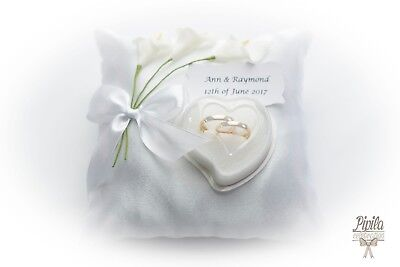 p22 ivory personalised wedding ring cushions wedding ring pillow