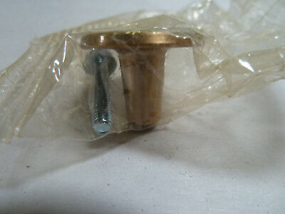 "1 NOS Vintage Mid Century 1"" Brushed Copper Drawer Knob Cabinet Pull w/screw"
