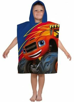 Boys Blaze & The Monster Machines  Summer Swimming Beach Hooded Towel Poncho