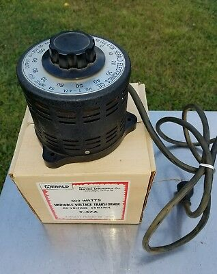 Herald T-47A 500W Variable AC Voltage Control Transformer  5A Input 115 Volts