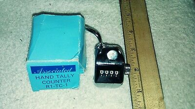 Vtg Associated Hand Tally Counter R1-TC-1 Made in Japan
