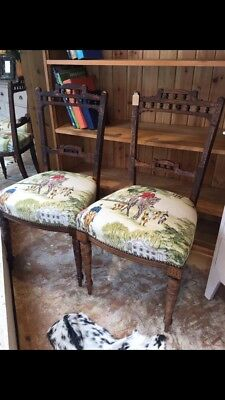 Period Horse Hunt Print Chairs