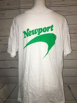 VTG Deadstock 80s NEWPORT CIGARETTES T-Shirt Large Unisex New in Box