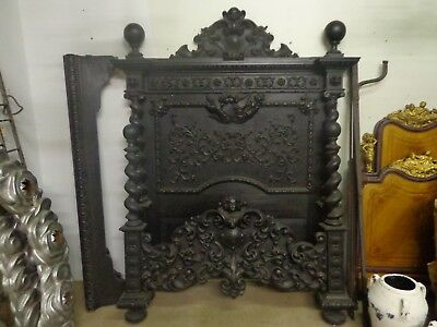 Rare Monumental 19Th Century Italian Monastery Bed Highly Carved With Angels