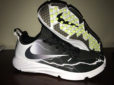 NEW $110 Nike Vapor Speed Turf Lightning Trainer Shoes 8.5 Black White 847100-01