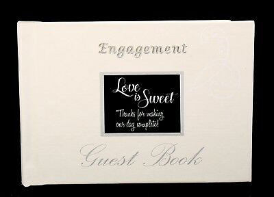 Engagement Party Guest Book Signing book Keepsake Personalize with Photo Quote