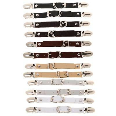 12x Womens Elastic PU Leather Adjustable Stocking Garter Leg Garter