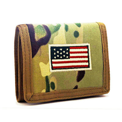 1000D Mens Canvas Trifold Wallet ID/Credit Card Holder Coin Money Pocket Wallet